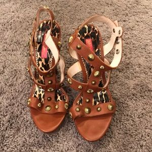 b3caed82ed9 Vintage Betsey Johnson strappy sandal